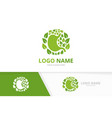 green gastrointestinal tract logotype template vector image