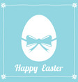 happy easter greeting card with easter egg vector image