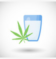 hemp milk flat icon vector image vector image