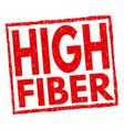 high fiber sign or stamp vector image