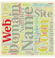 How To Pick A Web Site Domain Name For Your vector image vector image