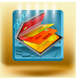 icon with business cards vector image vector image
