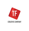 initial letter tf logo template design vector image vector image