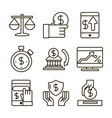 investing business financial economy money icons vector image