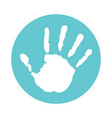 kids palm vector image vector image