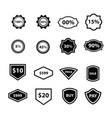 label design 16 item vector image vector image