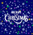 merry Christmas greeting card blue 2016 vector image vector image