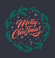merry christmas text for greeting cards vector image vector image