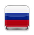 Metal icon of Russian Federation vector image vector image