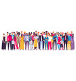 multiethnic group people society vector image