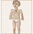 nude man Adam concept Hand drawn image vector image vector image