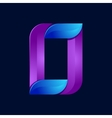 O letter volume blue and purple color logo design vector image