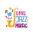 original emblem for jazz festival abstract logo vector image vector image