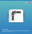 pipe icon - blue sticker button vector image