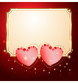 postcard with hearts vector image vector image
