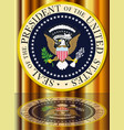 presidential seal reflection vector image vector image
