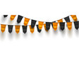 realistic bunting 3d flag halloween holiday vector image