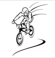 Rider on bike vector image