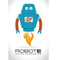 Robot design over white background vector image