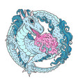 round dragon character for kids vector image