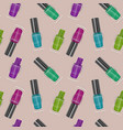 seamless pattern with realistic nail polishes vector image vector image