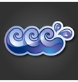 sign three purple and blue waves with drops vector image vector image