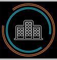 skyscraper building icon vector image