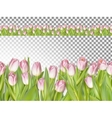 Spring seamless border background EPS 10 vector image vector image