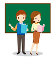 Teachers Standing In Classroom vector image
