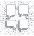 think text balloon design vector image vector image