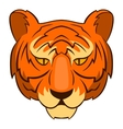 Tiger head icon cartoon style