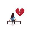 unhappy sad woman in depression having vector image vector image