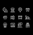 urban infrastructure black line icons set vector image vector image
