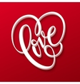 Valentines Day Lettering Love vector image