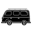 van turism isolated icon vector image vector image