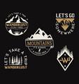 vintage mountain camp logos adventure badges set vector image vector image