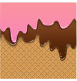 Waffle background with jam vector image