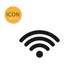 wifi or signal icon isolated flat style vector image