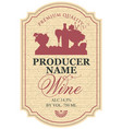 wine label with a silhouette of a still life vector image vector image