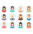 women avatar set isolated on white background vector image vector image
