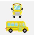 Yellow school bus set Cartoon clipart vector image vector image
