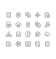 Line Database Icons vector image