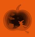 happy halloween paper art style vector image