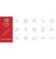 15 measurement icons vector image vector image