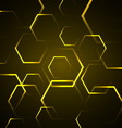 Abstract background with yellow hexagon vector image vector image