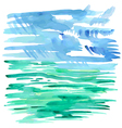 Abstract sea watercolor background vector image