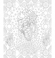 adult coloring bookpage a christmas background vector image vector image
