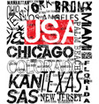 american logo athletic typography vector image vector image
