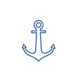 anchor line icon concept anchor flat vector image vector image
