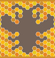 bee honeycomb with bee pattern backgrounds vector image vector image